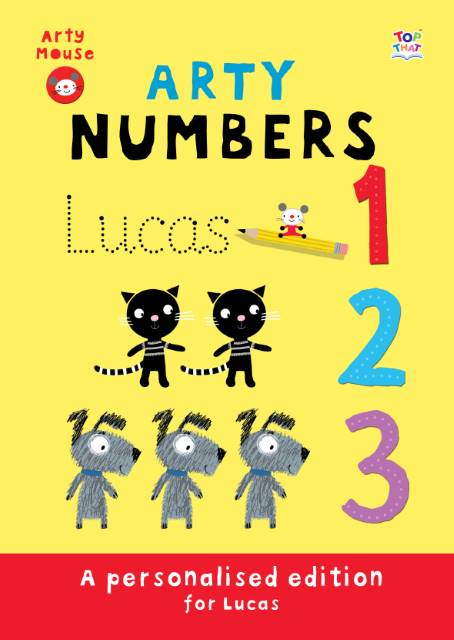 Arty Mouse Numbers Hardback Book