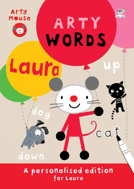 Arty Mouse Words Hardback Book
