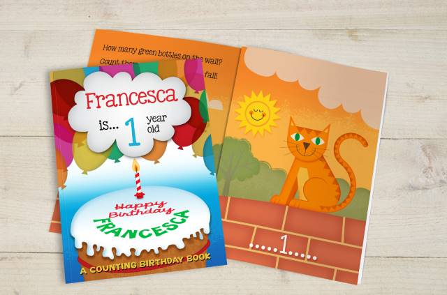 Personalised Counting Birthday Softback Book