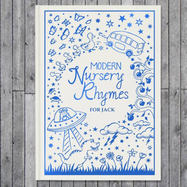Personalised Modern Nursery Rhymes Embossed Classic Hardback