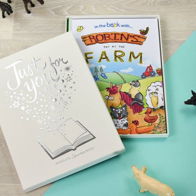 Personalised My Day at the Farm Book - Hardback