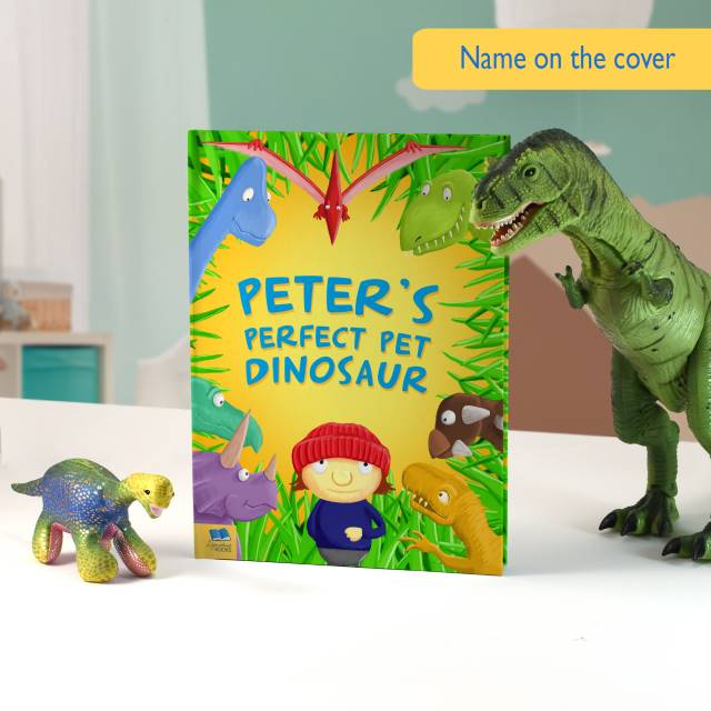 Personalised Pet Dinosaur Book - Hardback