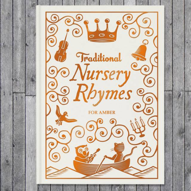 Personalised Traditional Nursery Rhymes Embossed Classic Hardback