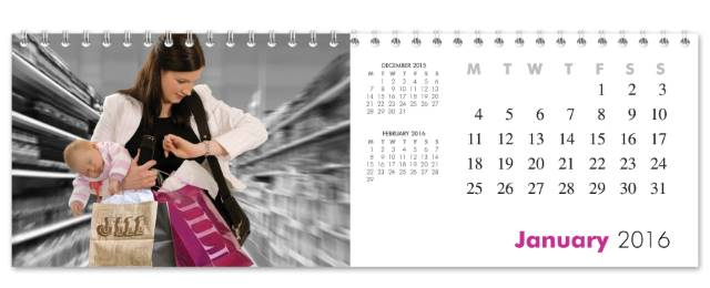 Personalised Best Mum Desktop Calendar