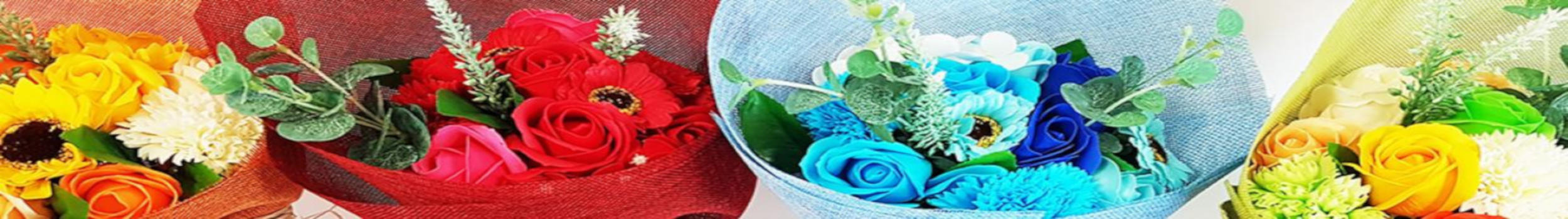 Soap Flower Bouquets Category Banner
