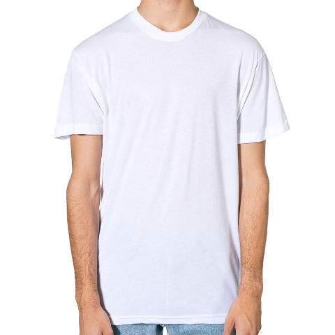 American Apparel PolyCotton Short Sleeve Crew Neck T