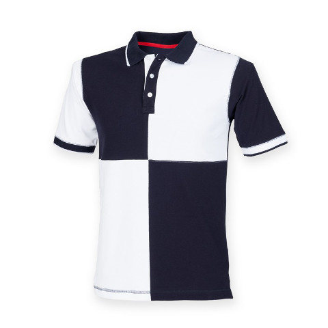 Front Row Quartered Tagless House Cotton Polo Shirt