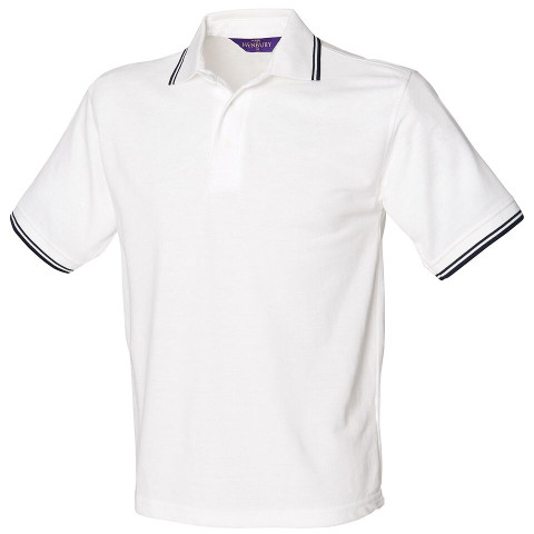 Henbury Tipped PolyCotton Pique Polo Shirt