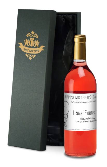 Chilli and Bubble's French AC Rose Wine with Mother's Day -Silk Box