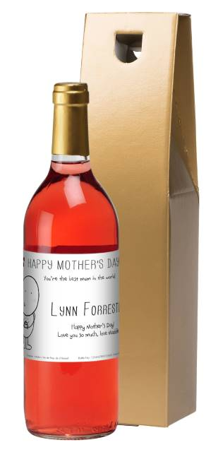 Chilli and Bubble's French AC Rose Wine with Mother's Day in Gold Box