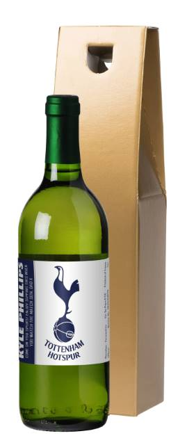 Personalised Spurs French AC White Wine Simply - in a Gold Box