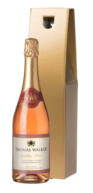 Sparkling Rose Wine with Any Occasion Label in Gold Gift Box