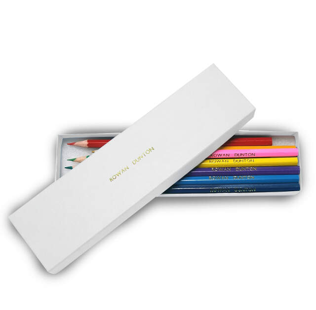 12 Colouring Pencils in a White Box