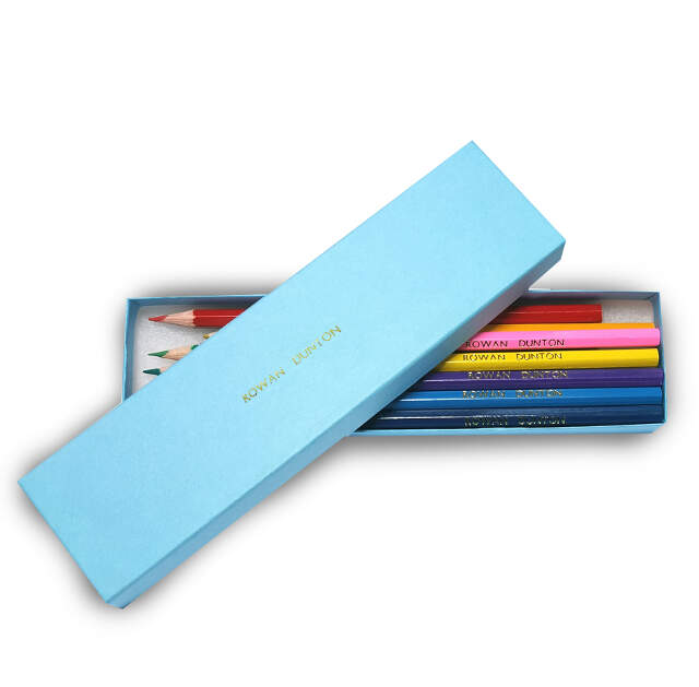 12 Colouring Pencils in an Aqua Box