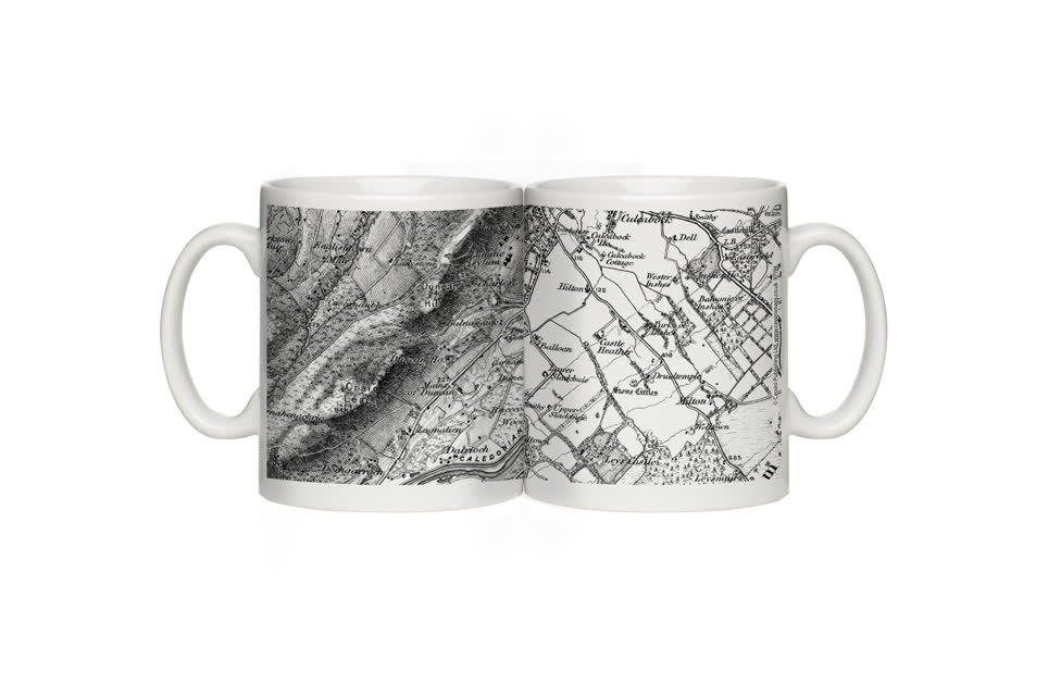 1805-1874 Old Series Map Mug