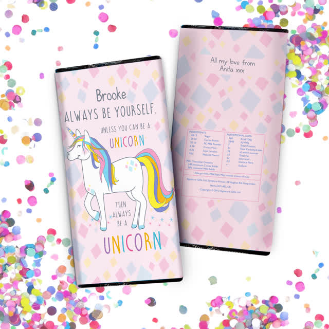 Always Be A Unicorn Chocolate Bar