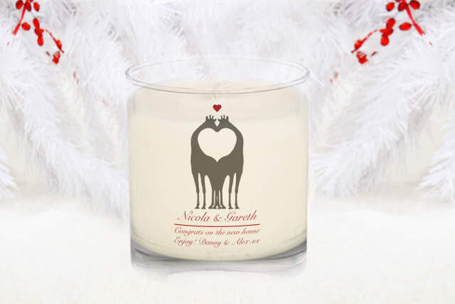 Animal Silhouette Christmas Spice Scented Candle