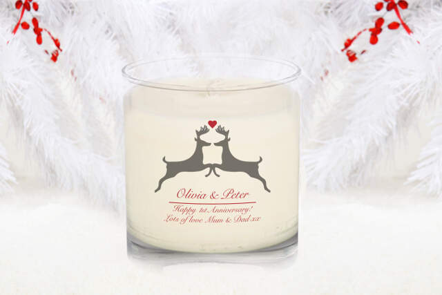 Animal Silhouette Rose Scented Candle