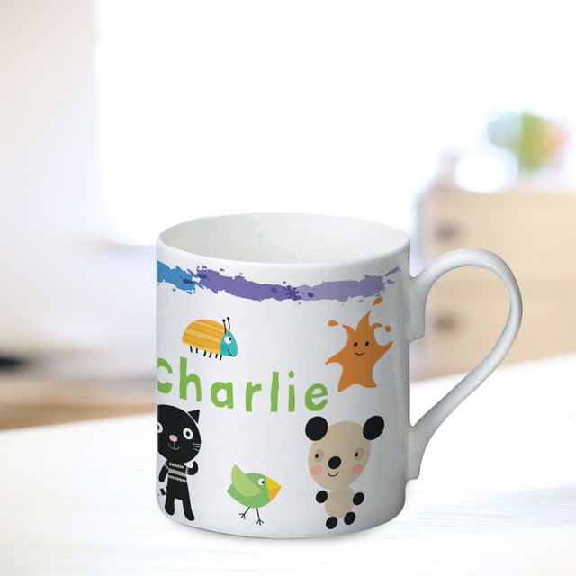 Arty Mouse Scatter Character Mug