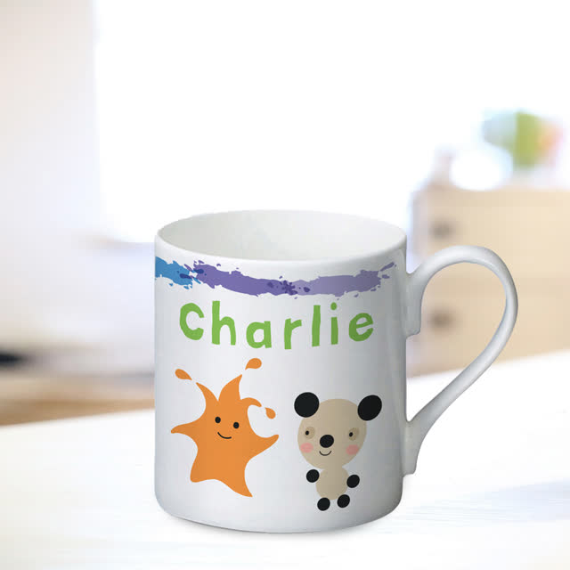 Arty Mouse Scatter Simple Character Mug