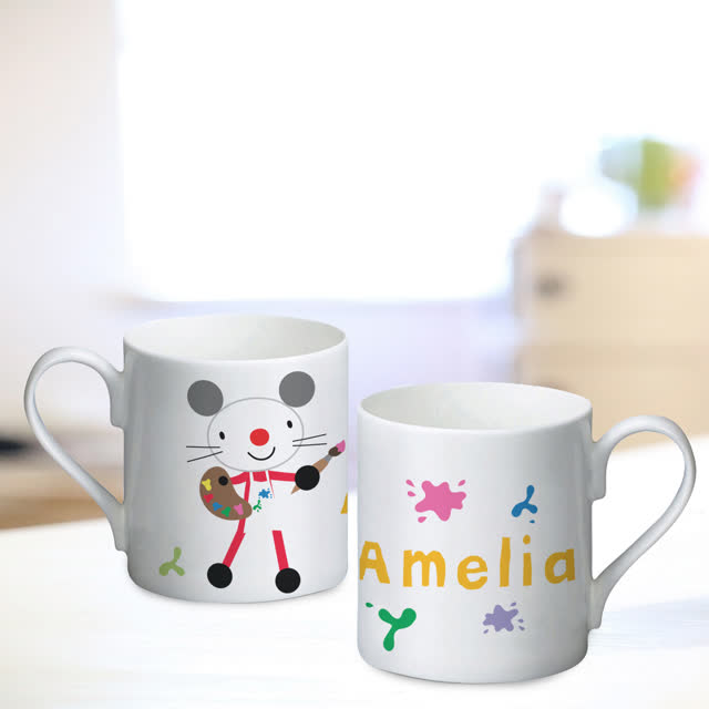 Arty Mouse Single Splash Character Mug