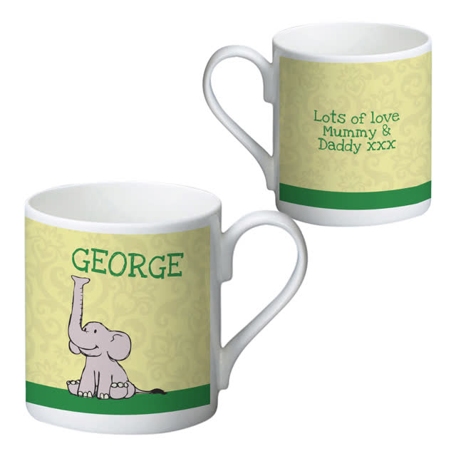 Baby Boy Elephant Bone China Mug