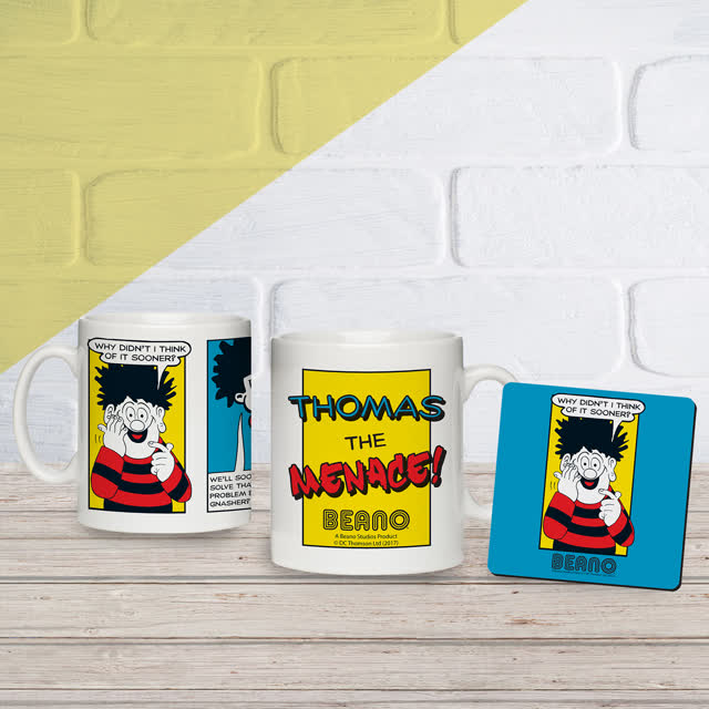 Beano Classic Comic Strip Problem Solved Mug & Coaster