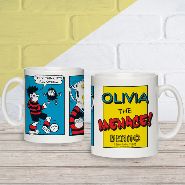 Beano Classic Comic Strip Top Dog Mug & Coaster