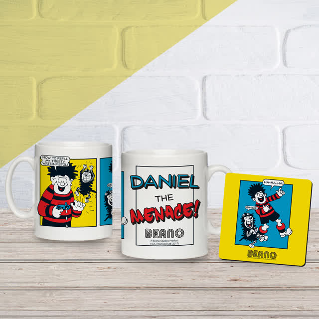 Beano Classic Comic Strip Water Pistol Mug & Coaster