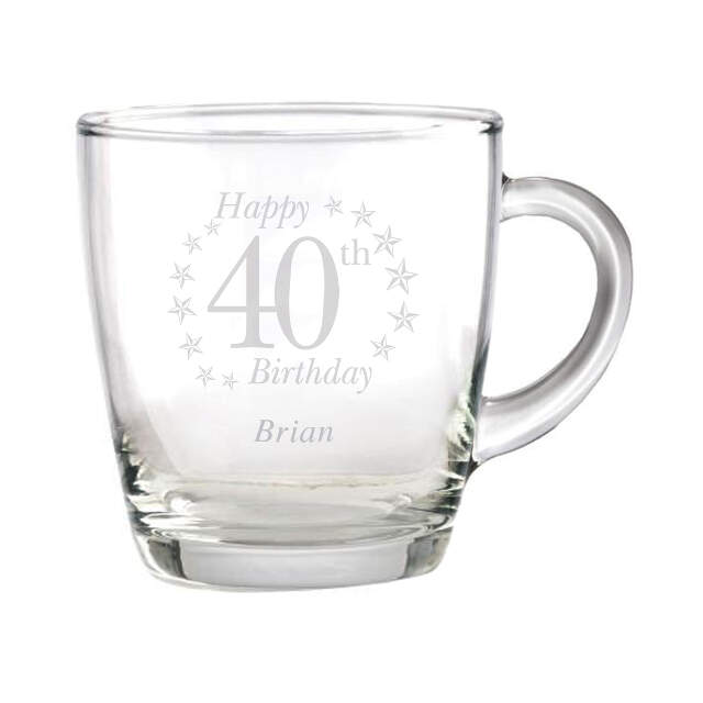 Birthday Age Glass Mug