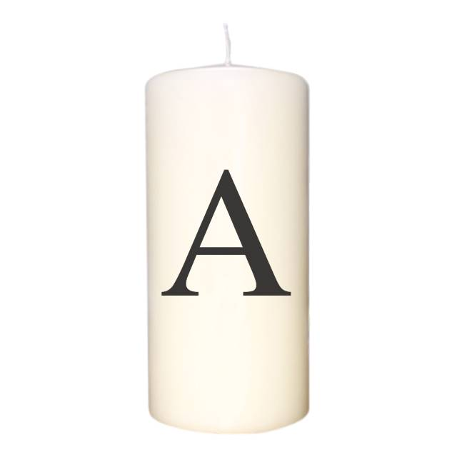 Black Monogram Initial Candle