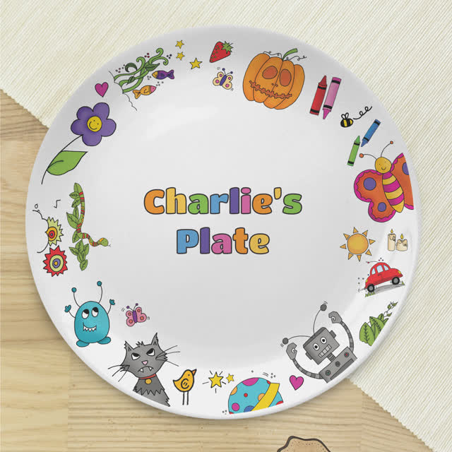Cartoon Character Children's Plate