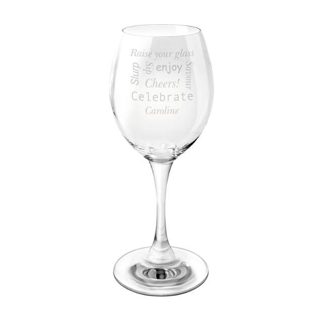 Celebratory Wine Glass