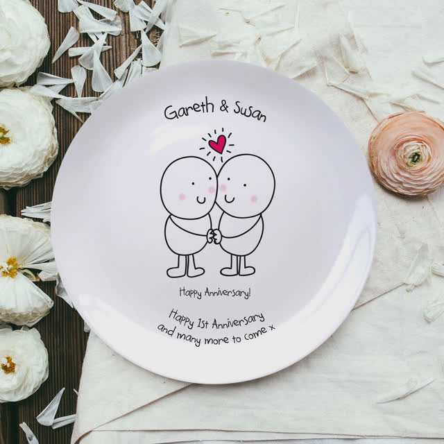 Chilli & Bubble's Anniversary Plate