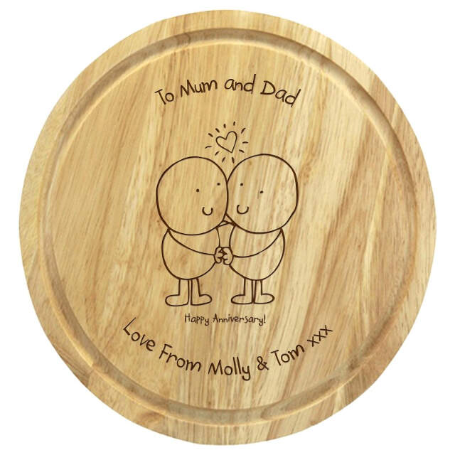 Chilli & Bubbles Anniversary round chopping board