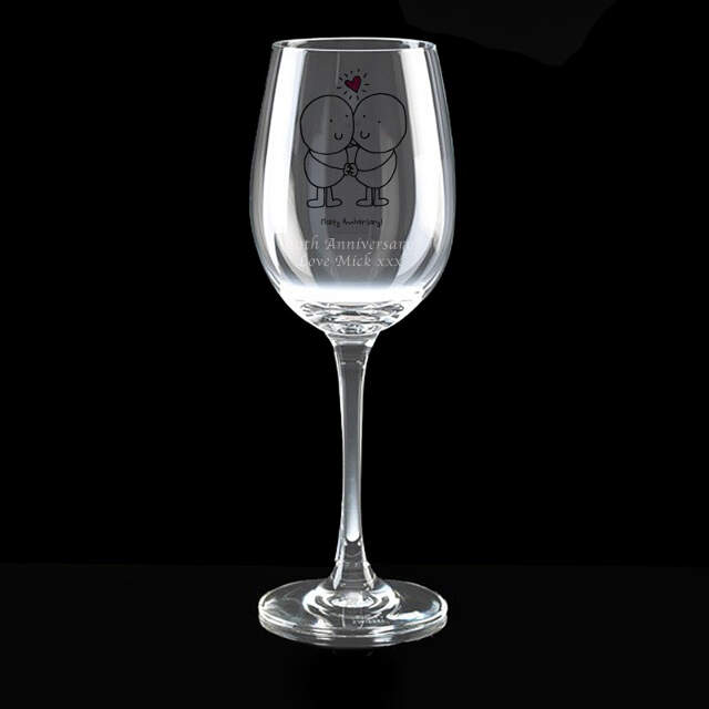 Chilli & Bubble's Anniversary Wine Glass