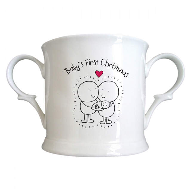 Chilli & Bubble's Baby's First Christmas Half Pint Tankard