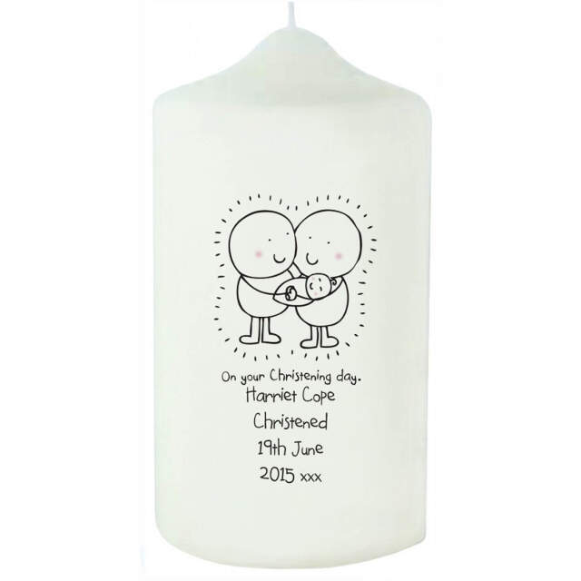Chilli & Bubble's Christening Candle