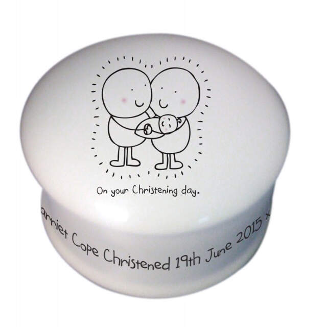 Chilli & Bubble's Christening Trinket Box