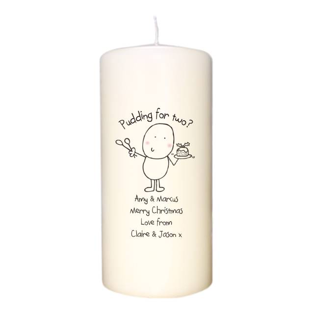 Chilli & Bubble's Christmas Pudding Candle