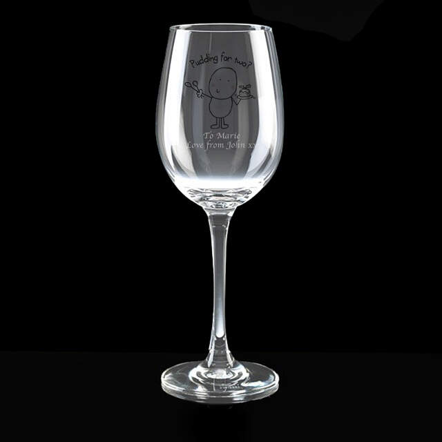 Chilli & Bubble's Christmas Pudding Wine Glass
