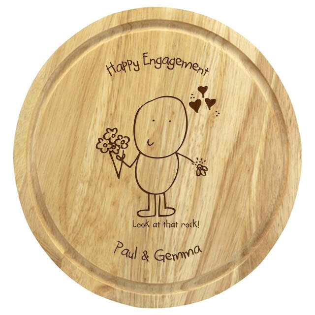 Chilli & Bubble's Engagement round chopping board