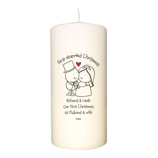 Chilli & Bubble's First Married Christmas Candle