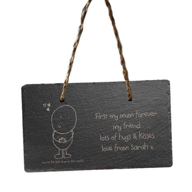 Chilli and Bubbles Mother's Day hanging slate sign