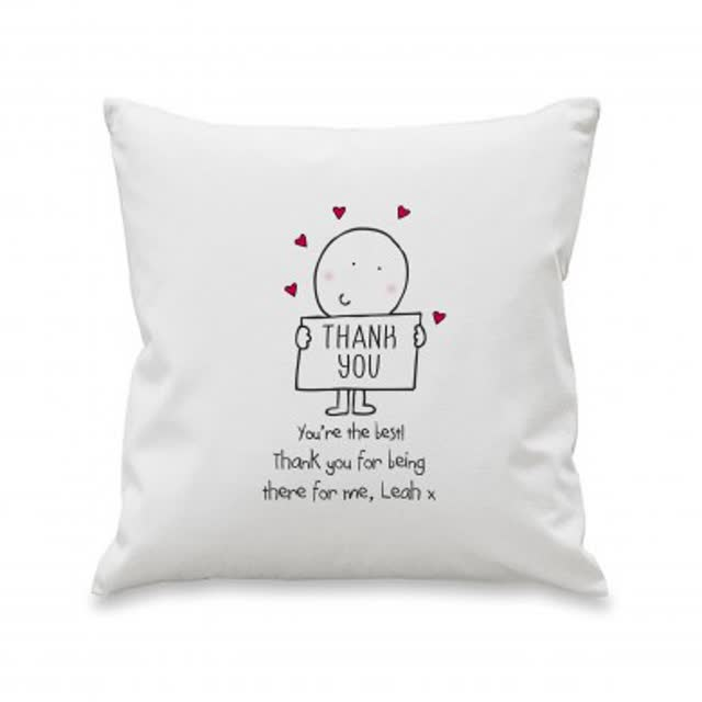 Chilli and Bubbles Thank You Cushion Cover