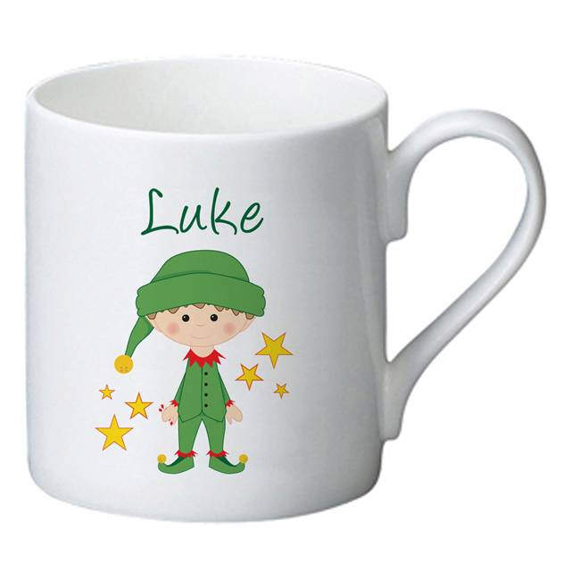 Christmas Elf Bone China Mug