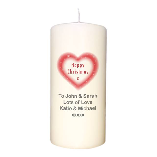 Christmas Heart Candle