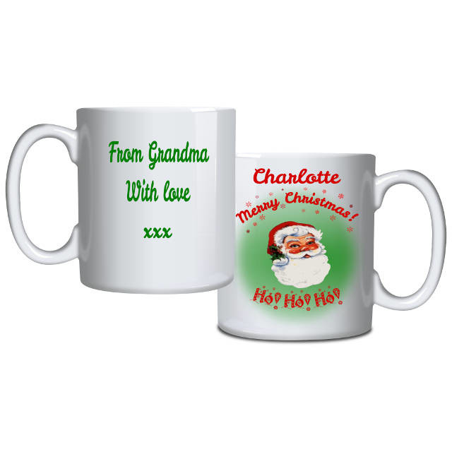 Christmas Santa personalised mug