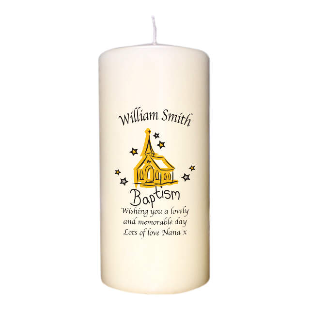 Church Baptism Candle
