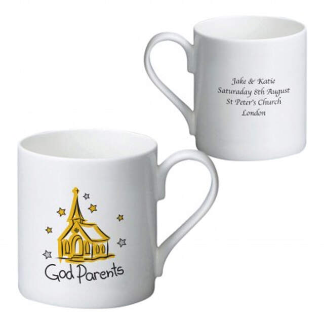 Church Godparents Bone China Mug